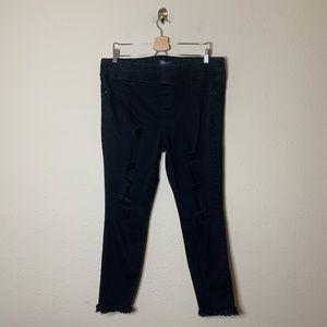 Old Navy Black Distressed Rockstar Skinny Jeans